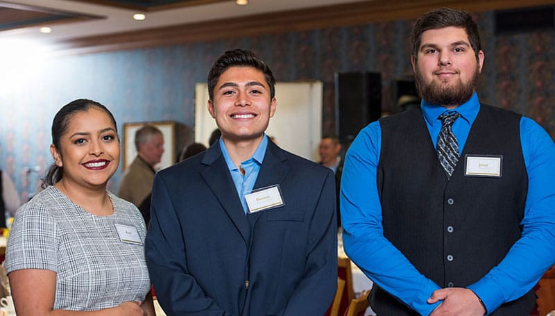 Students at Scholarship dinner