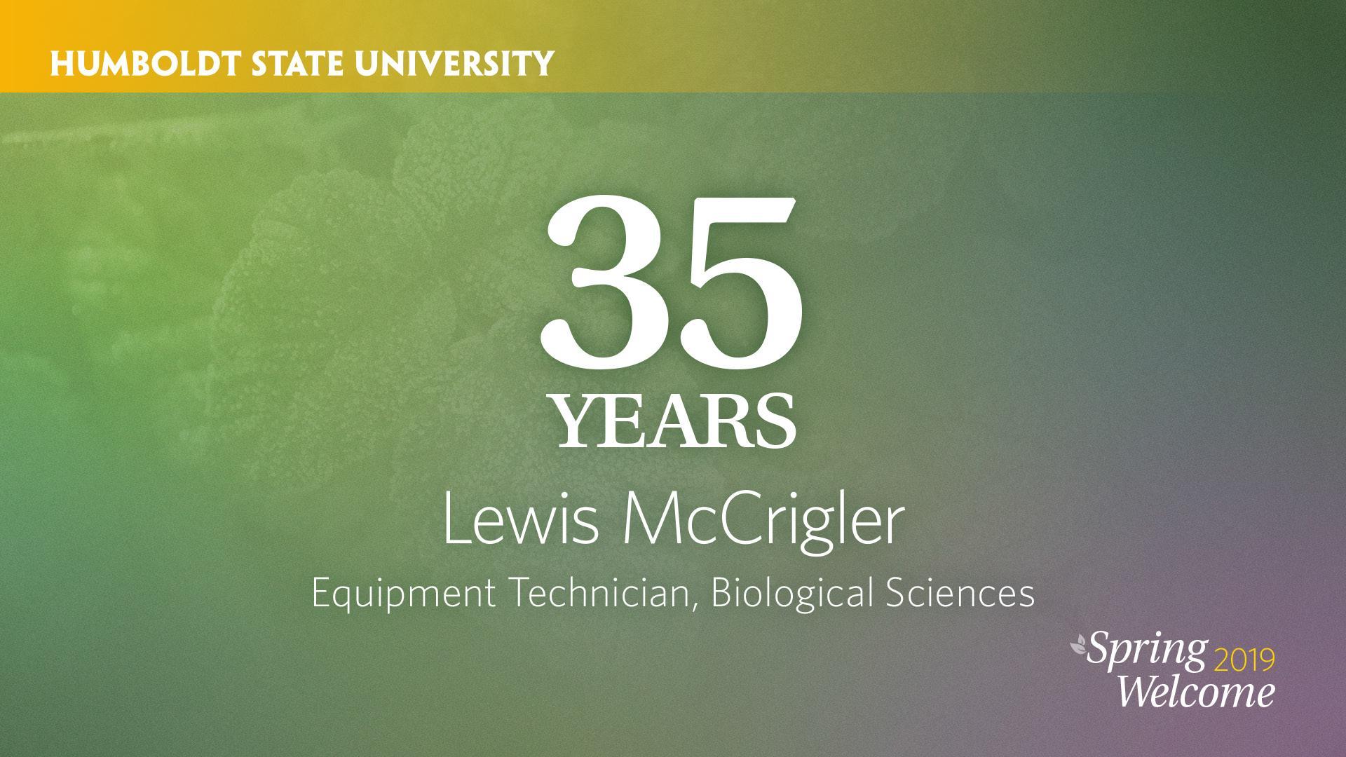 35 years lewis mccrigler
